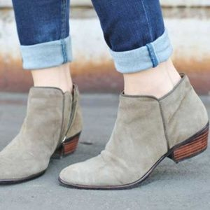 Sam Edelman Petty Suede Ankle Boot Tan Putty